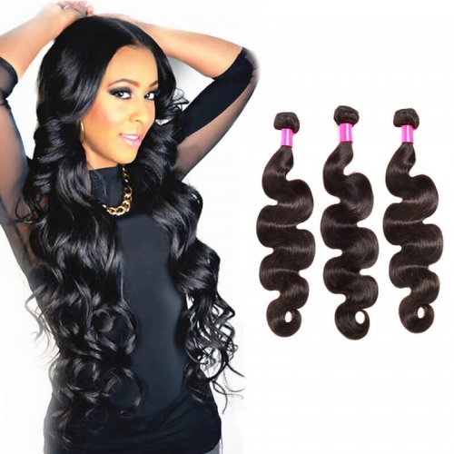 【Affordable 7A】8''-28'' 3 Bundles Peruvian Virgin Remy Human Hair Weft Body Wave Natural Color