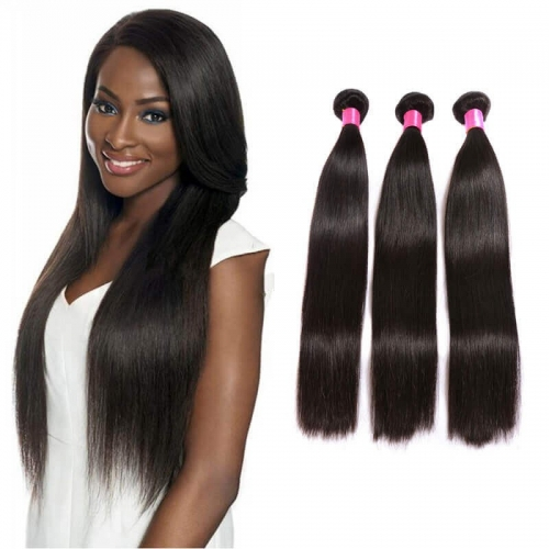 【Platinum 8A】8''-28'' 3 Bundles Indian Virgin Remy Human Hair Weft Silky Straight Natural Color