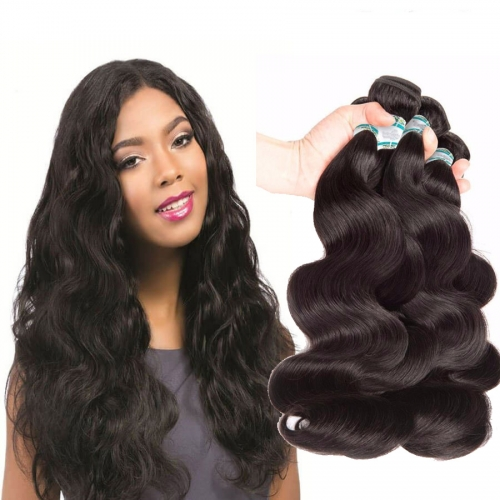 【Affordable 7A】8''-28'' 4 Bundles Body Wave Brazilian Virgin Remy Human Hair Weft Natural Color