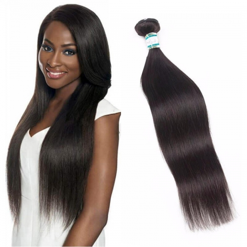 8''-28'' Single 1 Bundle Silky Straight Virgin Remy Human Hair Unprocessed Weft Natural Color