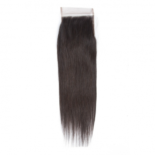 4*4 Silky Straight Virgin Remy Human Hair Silk Base Top Lace Closure
