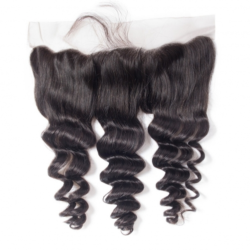 4*13 Loose Wave Virgin Remy Human Hair Ear to Ear Lace Closure Frontal