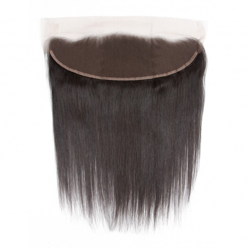 4*13 Silky Straight Virgin Remy Human Hair Ear to Ear Lace Closure Frontal
