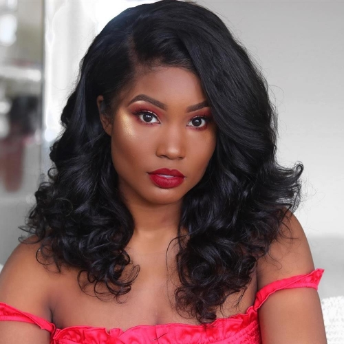 Long Loose Wave Lace Front Virgin Remy Human Hair Wigs For Black Women with baby hair Pre-Plucked Hairline