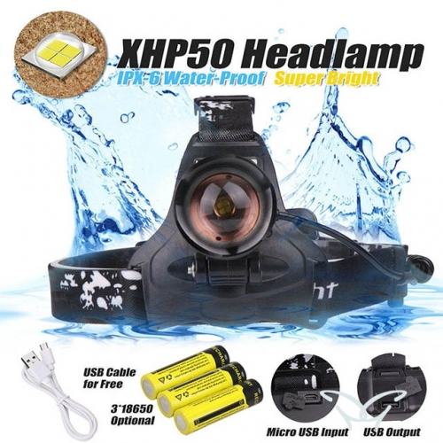 XHP50 LED Headlamp