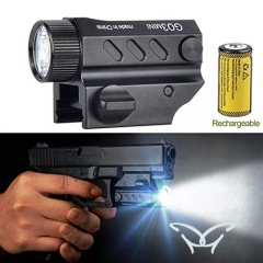 G03 Mini Led Handgun Flashlight Super Bright Pistol Light For Picatinny Rail Hunt