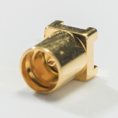 MCX Male Straight Connector for Printed Circuits