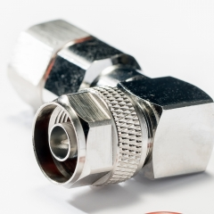 N Male Plug Right Angle Clamp Type Connector