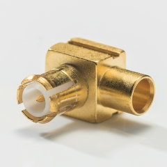 MCX Male Right Angle Connector Solder type