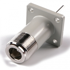 N Jack 4 hole Flange Mount Receptacle