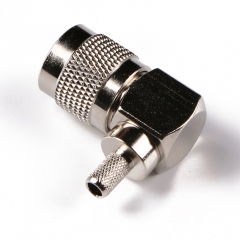 1.6/5.6 Male RA connector Crimp/Solder attachment for RG cable