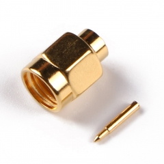 SMA Male Connector Solder Attachment for flexible cable