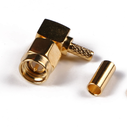 SMA Male RA Connector Solder Attachment for RG Cable