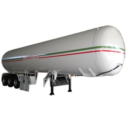 3 axle LPG propan tank semi trailer 56cbm LPG tank trailer