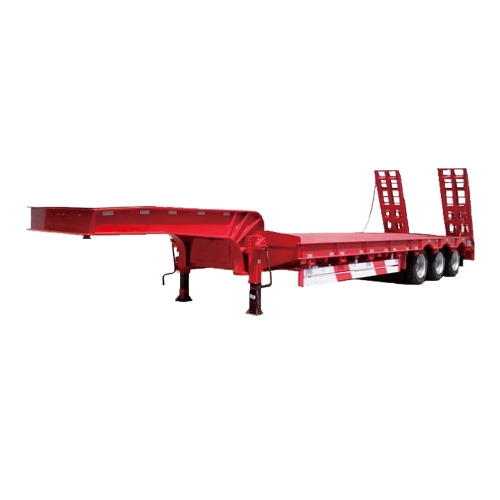 Hot sale three axle Low bed truck semi trailer factory price