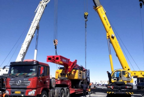 MAFAL SHIPPED One SANY brand-new SR235 rotary drilling rig to Malaysia