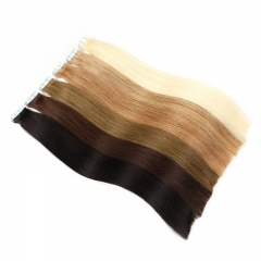 bonding Tape In Human Hair Extensions Remy Hair 20pcs/pack Straight PU Hair Natural matted Tape In Human Hair Skin Weft