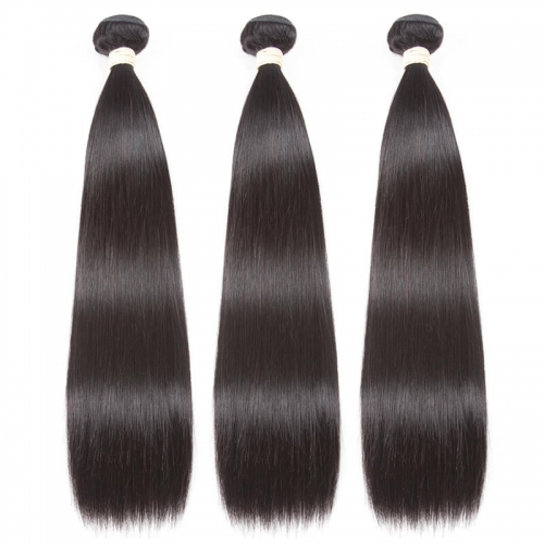 1 PCS Silky Straight Human Hair Bundles  Human Hair Natural Color Can Be Dyed