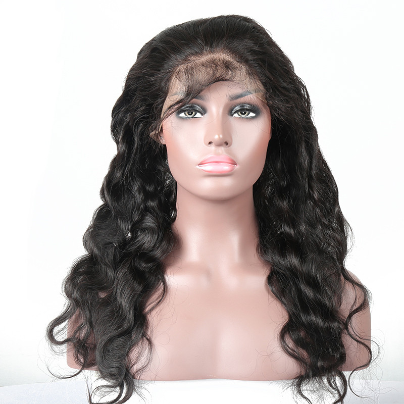 360 Body Wave Natural Color Lace Frontal Swiss Lace Bleached Knots With Baby Hair Natural Hair Line
