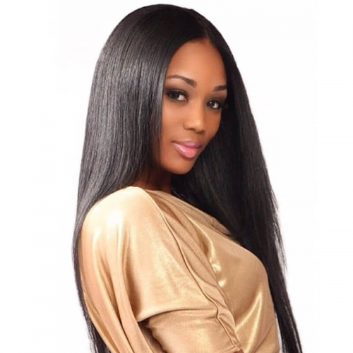 300 Density Silky Straight Lace Front Human Hair Wigs For Women Black Brazilian Virgin Hair Wig Pre Plucked Full End