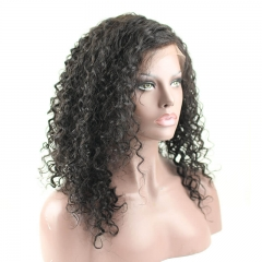 Curly Lace Front Wigs with Natural Baby Hair Pre-Plucked Hair Line 100% Human Hair 300%Density Bleached Knots