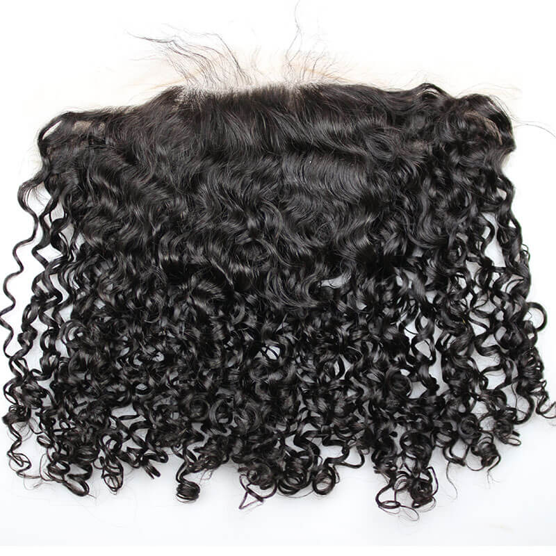 Water Wave Human Hair Lace Frontal Swiss Lace 13X6 Free Part Lace Frontal Closure with Natural Baby Hair