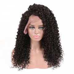 300% Density Deep Wave Unprocessed Human Hair Lace Front Wig with Natural Baby Hair Bleached Knots