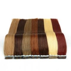 thin Tape In Remy Human Hair Double Sided Natural Human Hair PU Hair Extensions Silky Straight Hair Weave 20pcs/pack