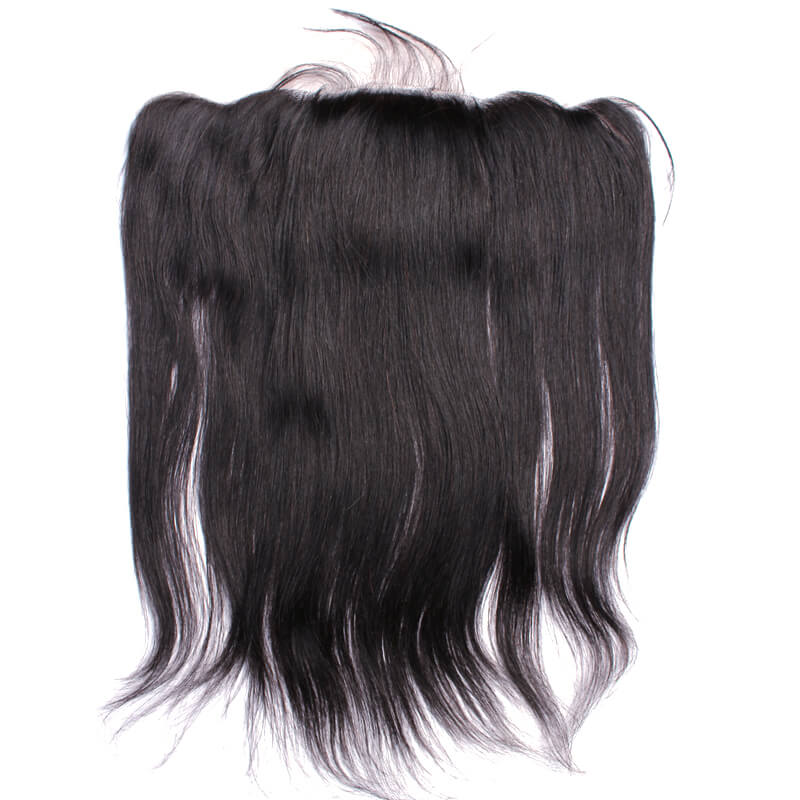Indian Silky Straight 13x4 Ear To Ear Silk Base Frontal  Human Hair  Frontal Pre Plucked Lace Frontal 8-22 Inch