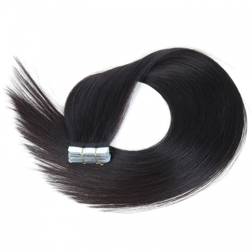 Satin Strands Tape In Remy Human Hair Extension premium now 20pcs/pack Double Sided PU straight hair pieces