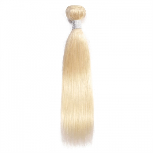 Peruvian Hair Silky Straight Hair Bundles 1 PC Color #613 Blonde Remy Human Hair Extensions 8-26 Inches In Stock