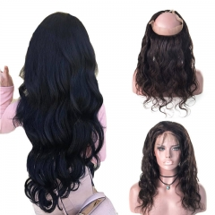 Body Wave Frontal Free Part Malaysian Human Hair 360 Frontal Closure Pre-Plucked Hair Line Bleached Knots For Women