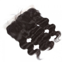 Body Wave  Human Hair Silk Top Lace Frontal Natural Color Brazilian Hair With Natural Baby Hair
