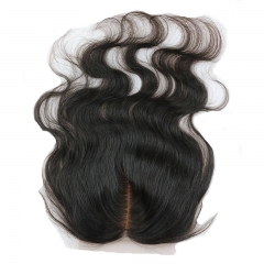Middle Part Body Wave  Human Hair Silk Top Closures with Baby Hair Bleached Knots