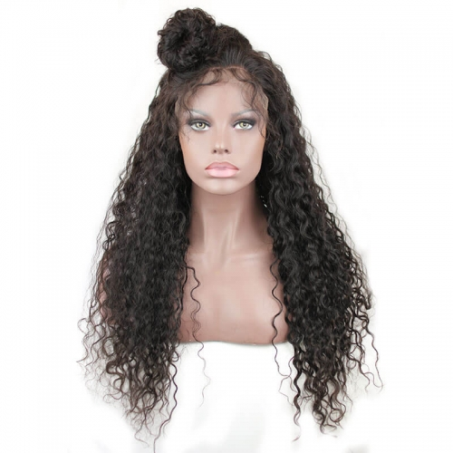 High Density Lace Front Wig Human Hair 300% Density Lace Wig Pre Plucked Hair Line Bleached Knots