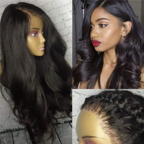 Pre Plucked Wet And Wavy 360 Lace Frontal Human Hair Wigs For Black Women With Baby Hair 150% Density