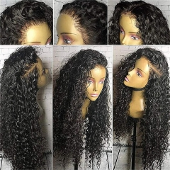 360 Lace Frontal Wigs 180% Denisty Lace Front Human Hair Wigs for Black Women Curly Brazilian Virgin Hair Pre Plucked