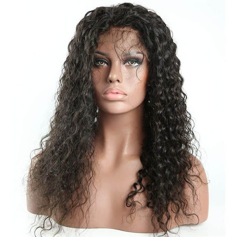 360 Lace Frontal Curly Human Hair Wigs 150% Density Brazilian Deep Curly Wig with Baby for Black Women