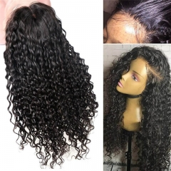 360 Lace Frontal Human Hair Curly Wigs Afro Kinky Curly Full Lace Wig Peruvian Virgin Hair Lace Front Wig with Baby Hair