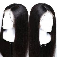 Lace Wigs For Black Women Popular Silky Straight 360 Lace Frontal Wig Pre Plucked Hair Line With Natural Baby Hair Full Density