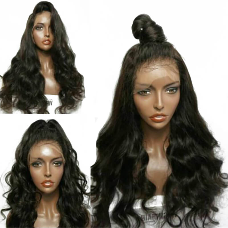 Lace Front Wig With Baby Hair Pre Plucked Hair Line Fashion Body Wave Malaysian Human Hair Natural Color 250 Density