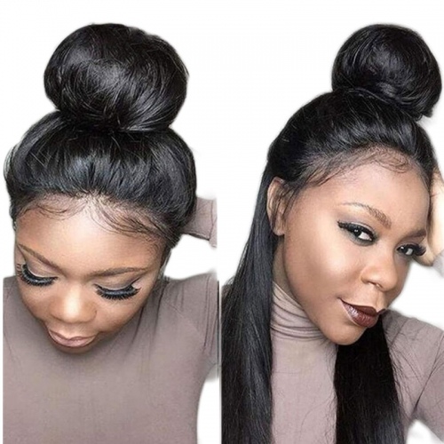 Beauty Silky Straight 360 Lace Frontal Wig Pre Plucked 130% Density Lace Front Human Hair Wigs With Baby Hair