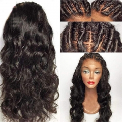 Peruvian 13x6 Lace Frontal Wigs For Black Women Wavy Wig 13x6 Lace Front Wigs Human Hair Pre Plucked Natural Hairline 150% Density