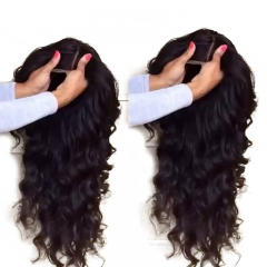 Full Lace Wigs with Bleached Knots Wavy Natural Black Brazilian Wavy Human Hair Silk Base Wigs Pre Plucked Natural Hair Line