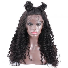 Silk Top Full Lace Wigs Natural Color Curly Brazilian Human Hair Silk Base Wig Pre Plucked Hair Line with Natural Baby Hair