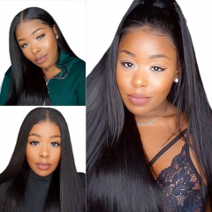Straight Human Hair 13X6 Lace Front Wigs With Baby Hair Natural Color Pre Plucked Hair Line Can Part Anywhere
