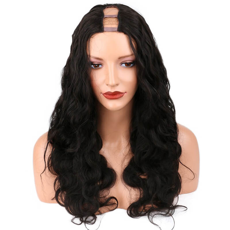 Human Hair Body Wave Brazilian U Part Wigs Natural Color Hair Wig For Women
