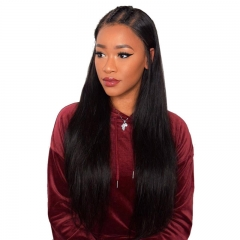 Deep Parting Lace Front Wigs Lace Size 13x6 Silky Straight Brazilian Human Hair Lace Wig Pre Plucked Hair Line