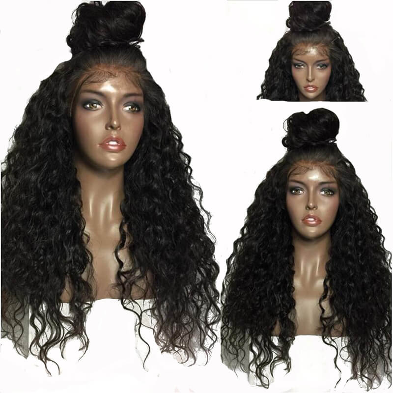 Indian Lace Front Wig Pre Plucked Hair Line With Baby Hair 250% Density Natural Color Human Hair Wigs On Sale