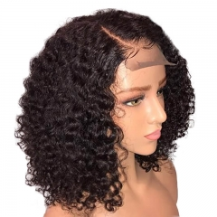 Side Part 150% Density Brazilian Human Hair Lace Front Wigs Bob Cut Wig Pre Plucked Hair Line Baby Hair Around